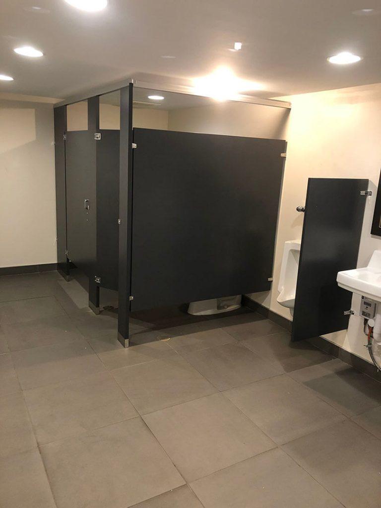 Scranton Solid Plastic washroom toilet partitions installed Baltimore office